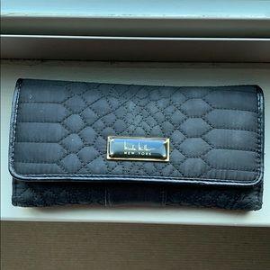 Black Embroidered Wallet